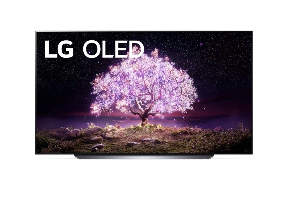 LG C1 83″ Class 4K Smart OLED TV features self-lit pixels for brightly colored visuals