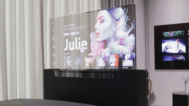 LG Display Transparent OLED TV concept