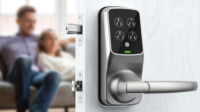 LOCKLY Duo smart lock features a two-in-one latch and deadbolt solution