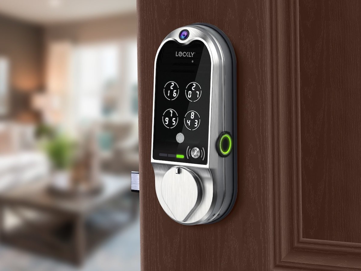 LOCKLY Vision doorbell camera smart lock comes with five secure ways to unlock your door