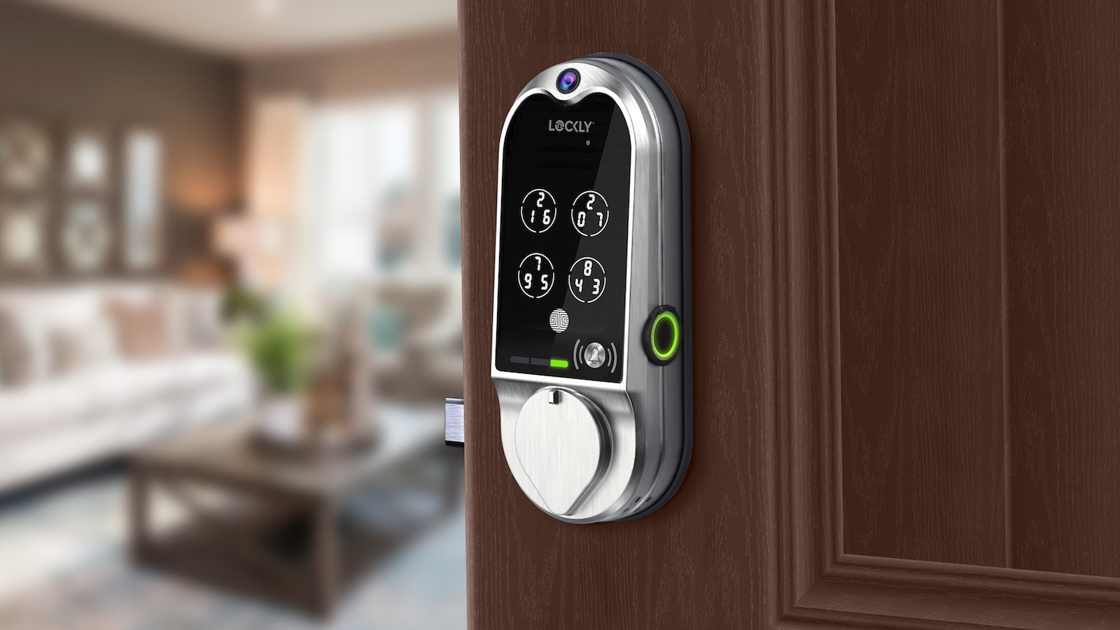 LOCKLY Vision doorbell camera smart lock comes with five secure ways to unlock your door