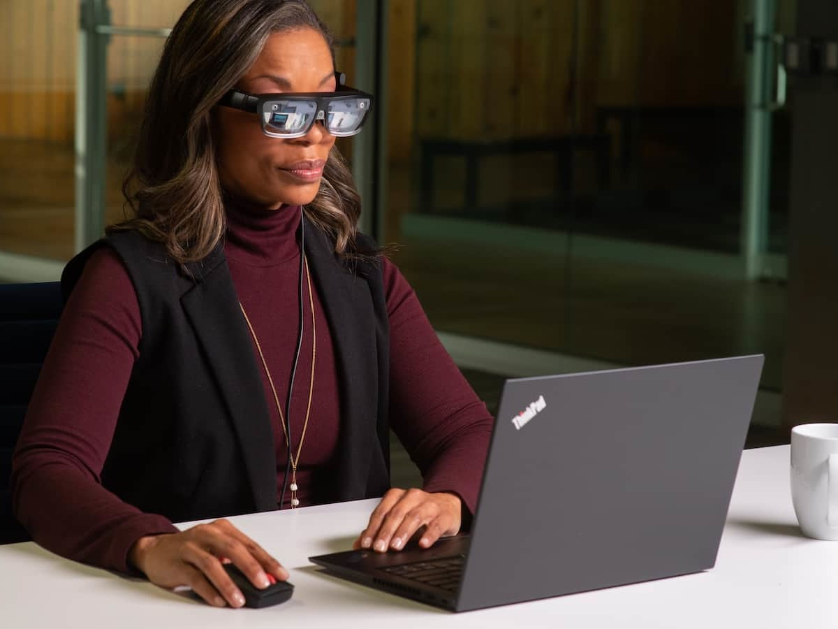 Lenovo ThinkReality A3 lightweight smart glasses are a next-gen AR solution for work