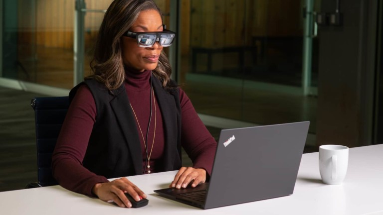 Lenovo ThinkReality A3 lightweight smart glasses is a next-gen augmented reality solution for work