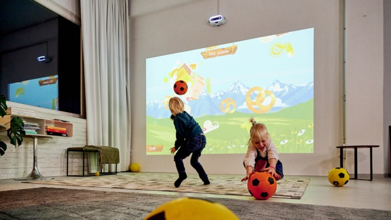 Limbic physical gaming console motivates the whole family to be active