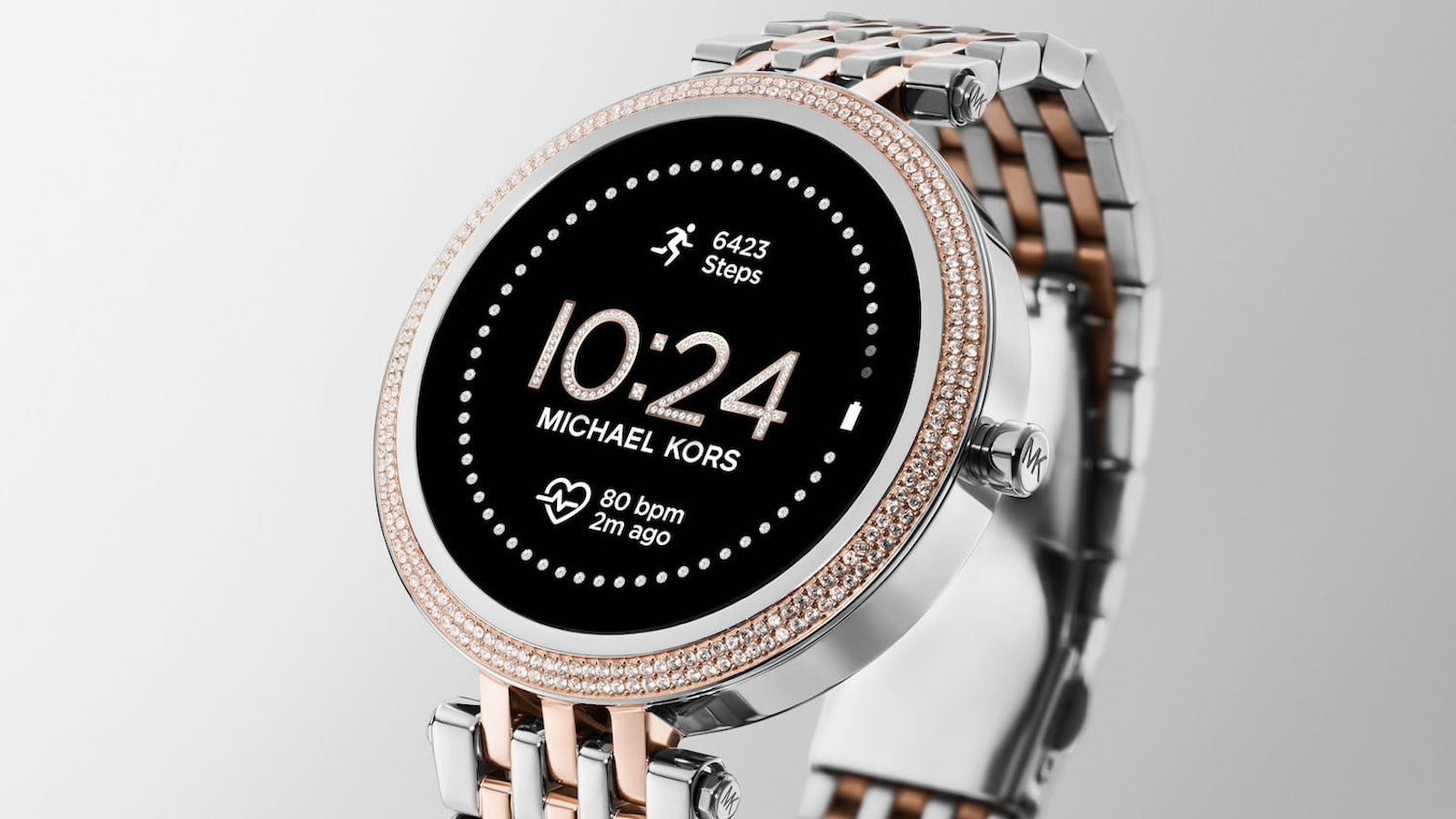 Michael Kors Access Gen 5E Darci smartwatch has a sparkly crystal design