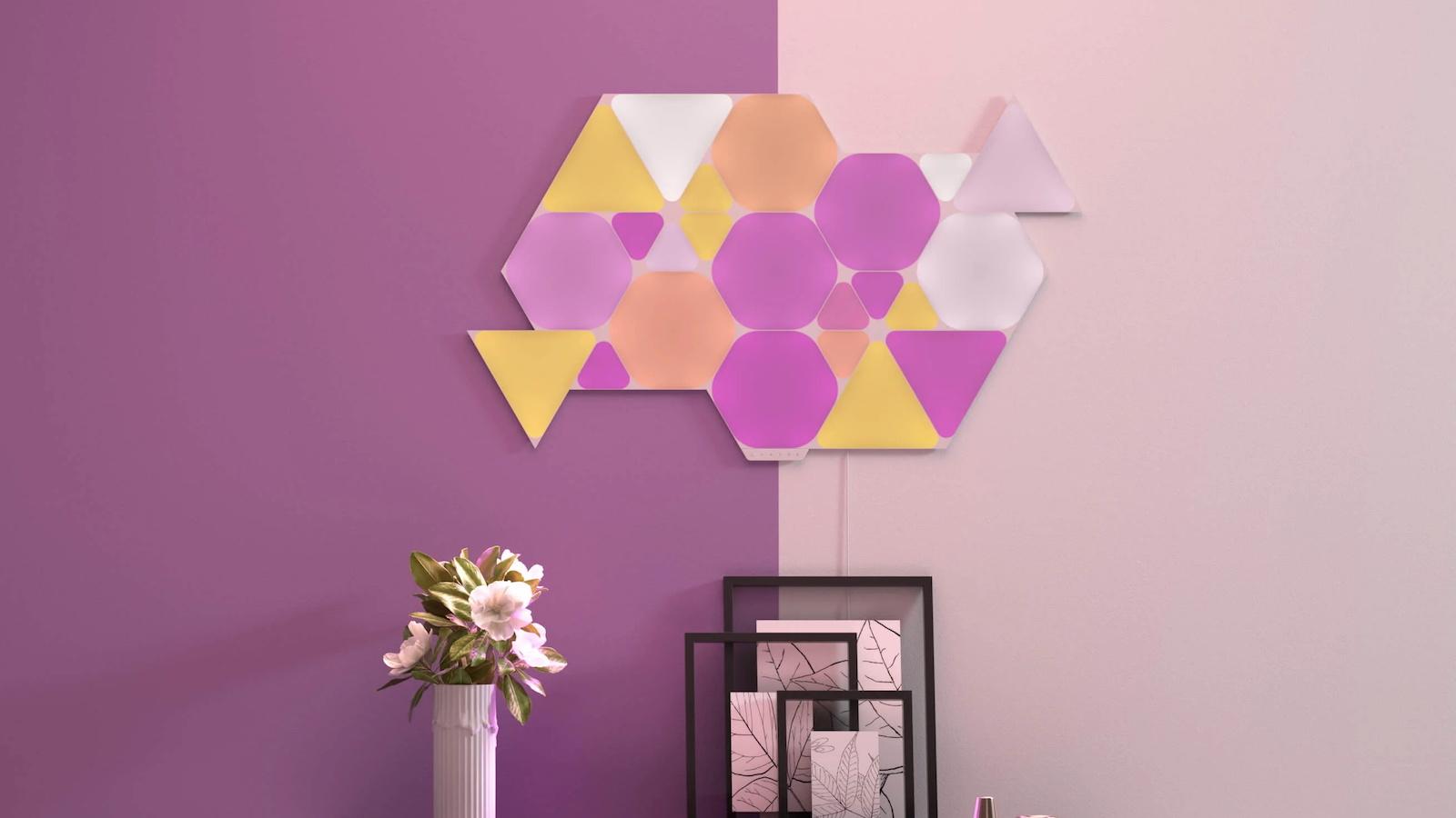 Nanoleaf Shapes modular smart wall decor lets you discover limitless lighting