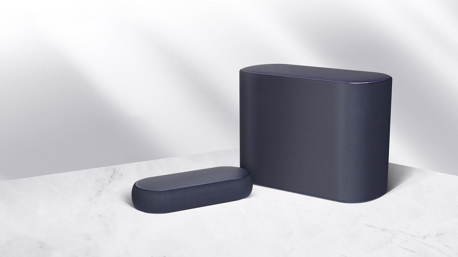 LG QP5 Éclair soundbar packs Dolby Atmos, DTS:X, and upfiring drivers in a tiny package