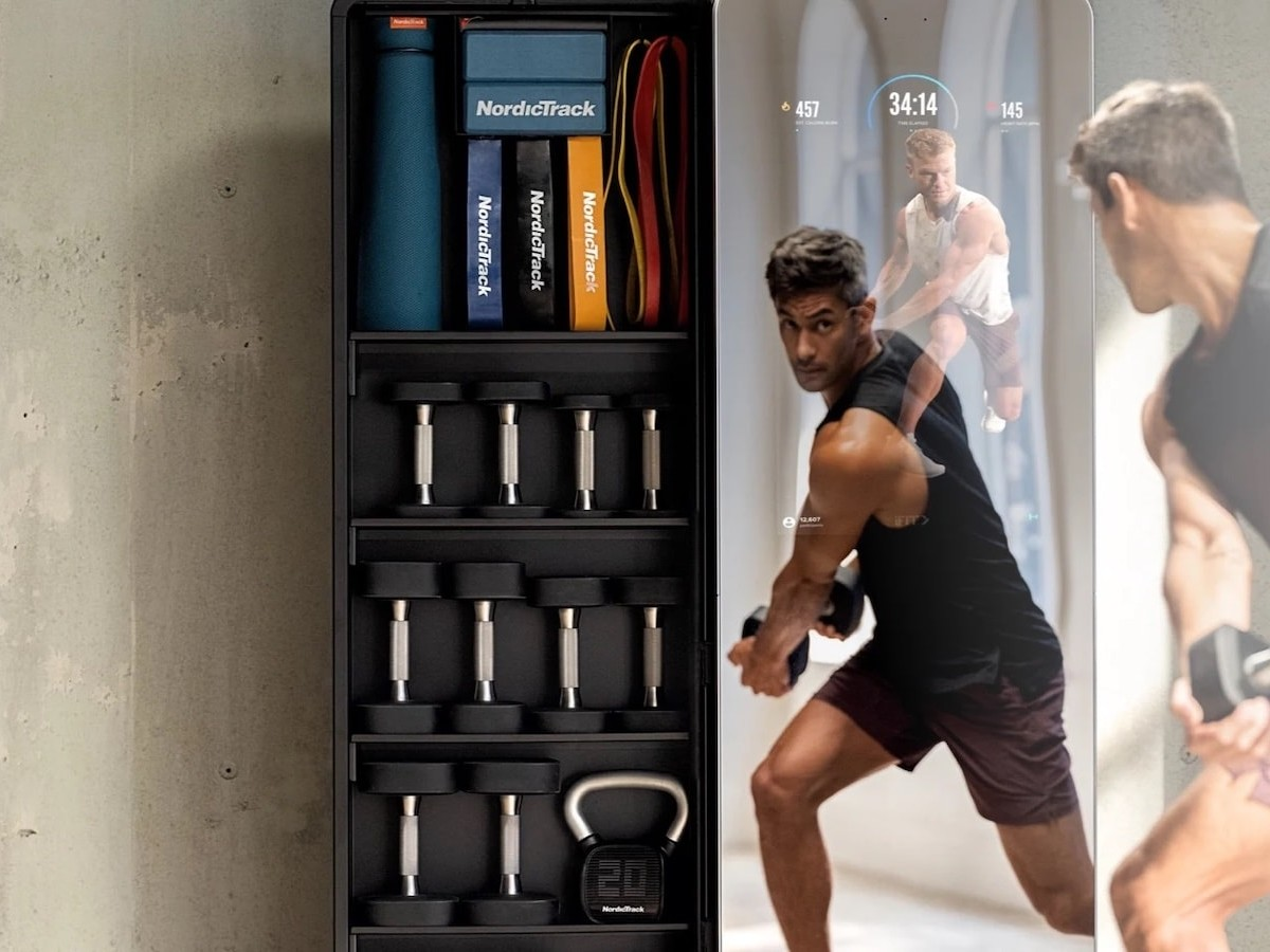 NordicTrack Vault premier home gym has a mirror design so you can see your form