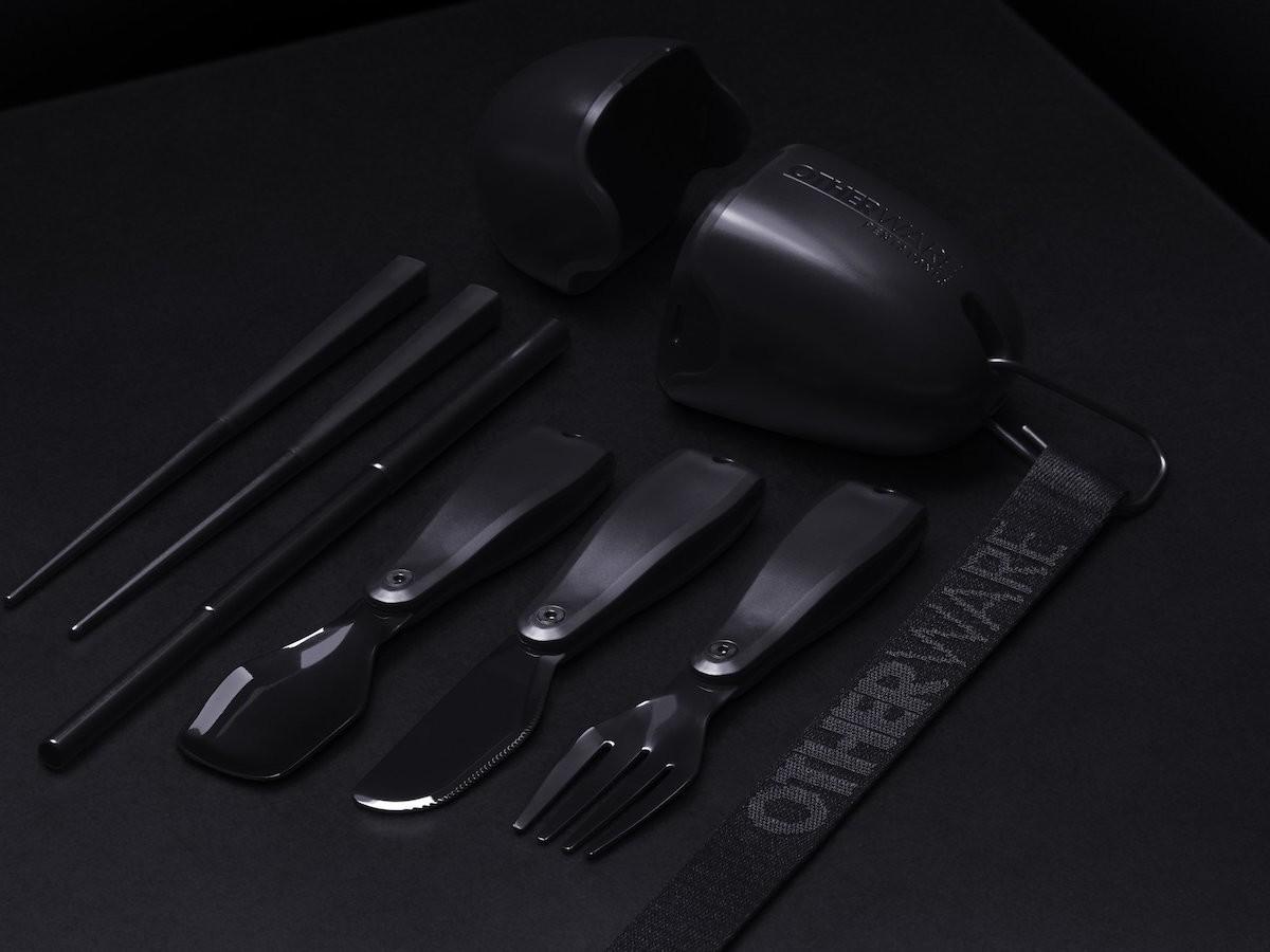 OTHERWARE Pebble Triple Black portable cutlery gadget is devoid of single-use plastic