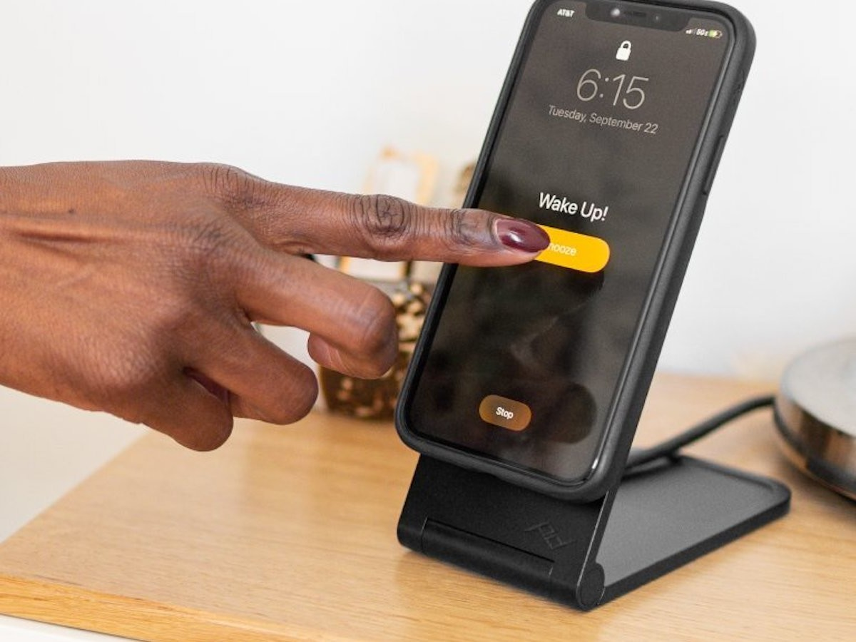 Peak Design Wireless Charging Stand aligns to your phone perfectly with magnets