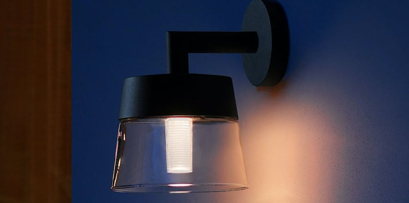 Philips Hue Attract Glass Outdoor Lamp