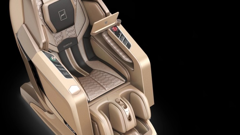QUANTUM Audio Speakers by Bang & Olufsen massage chair has zero-gravity mode and AI
