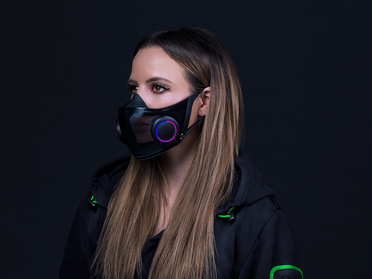 Razer Project Hazel N95 smart mask concept can also project your voice