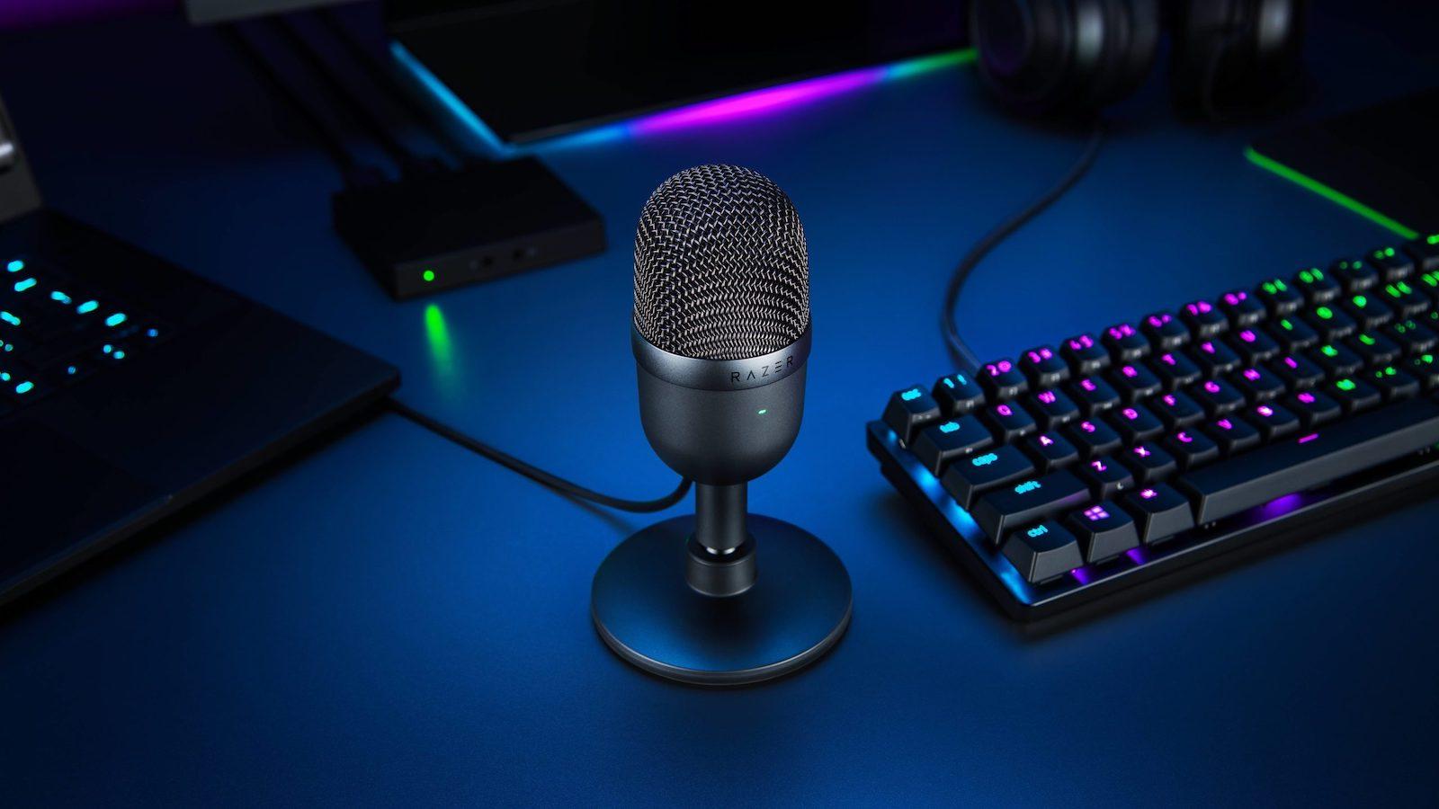 Razer Seiren Mini portable microphone uses a precise supercardioid pickup pattern