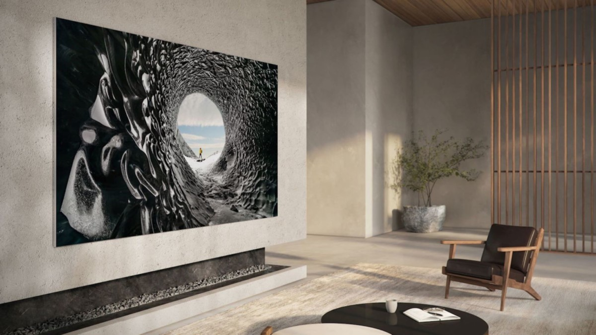 "Samsung 110"" MicroLED TV features 8 million pixels and four split screens"