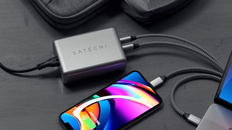 Satechi 100W USB-C PD Compact GaN Charger quickly powers your devices