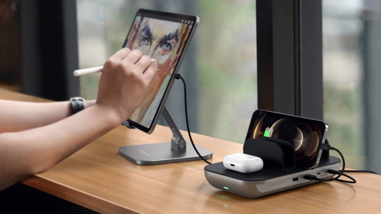 Satechi Dock5 Multi-Device Charging Station organizes your workspace