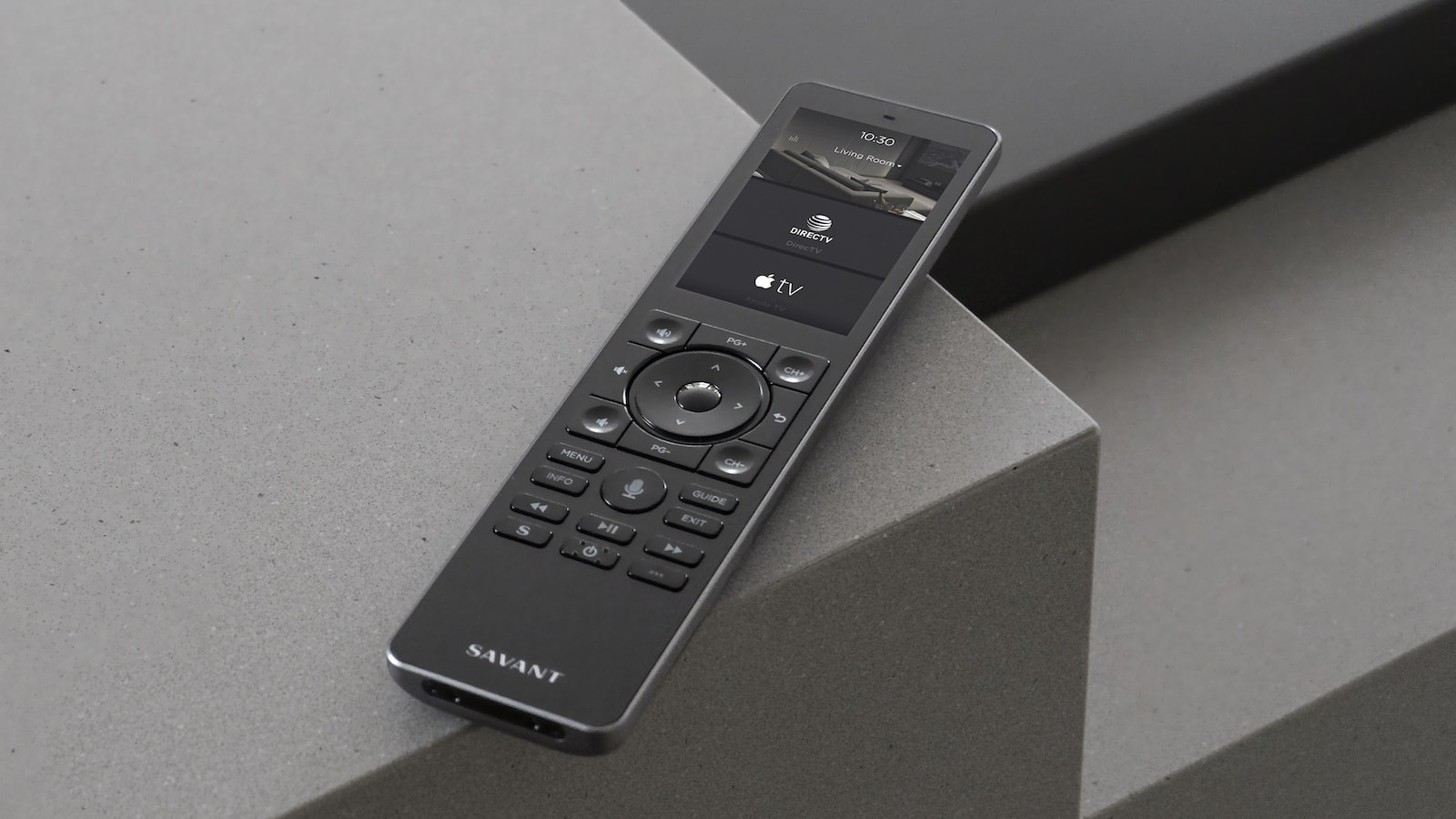 Savant Pro Remote X2 personalized controller gives you quick access to most-used items