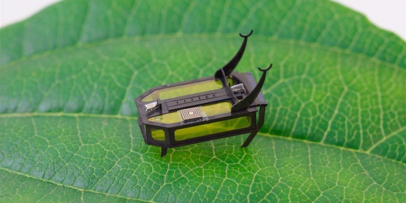 Science Robotics RoBeetle insect-sized microbot