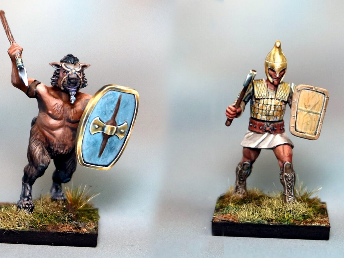 Scythian Miniatures hard plastic models are 32 mm tall tiny figurines