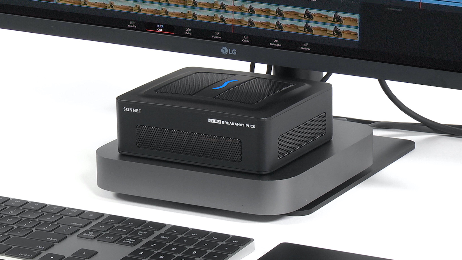 Sonnet eGPU Breakaway Pucks portable Mac docks have a compact, all-in-one design