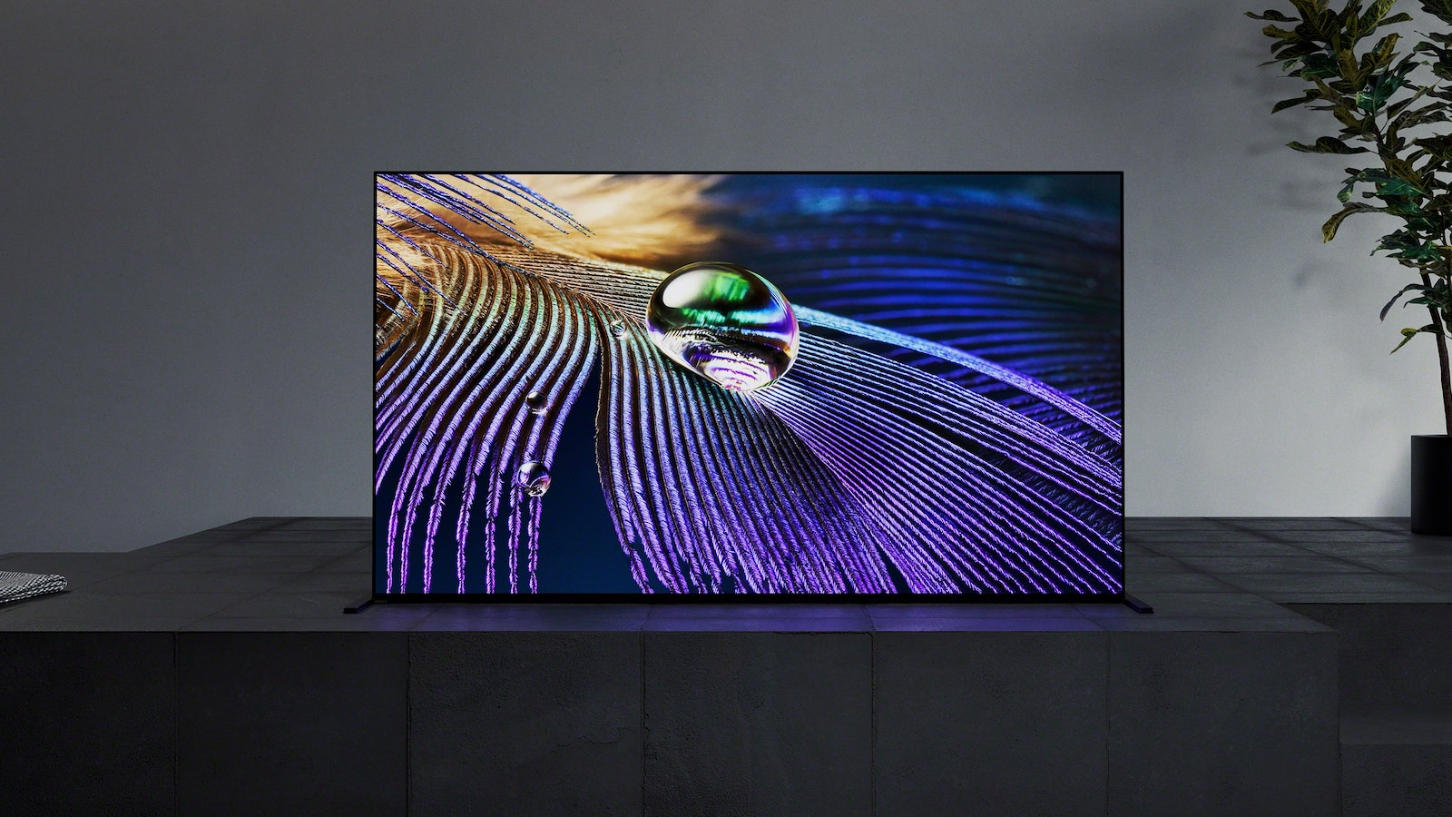 Sony BRAVIA XR MASTER Series A90J OLED TV has a seamless edge design