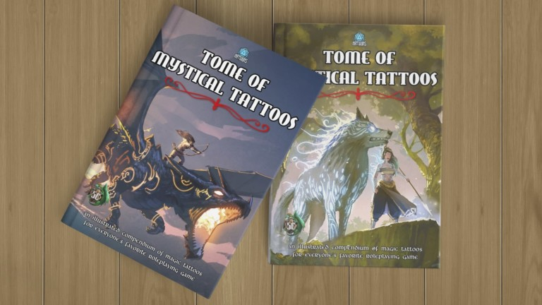 Tome of Mystical Tattoos Dungeons and Dragons body art includes more than 100 designs