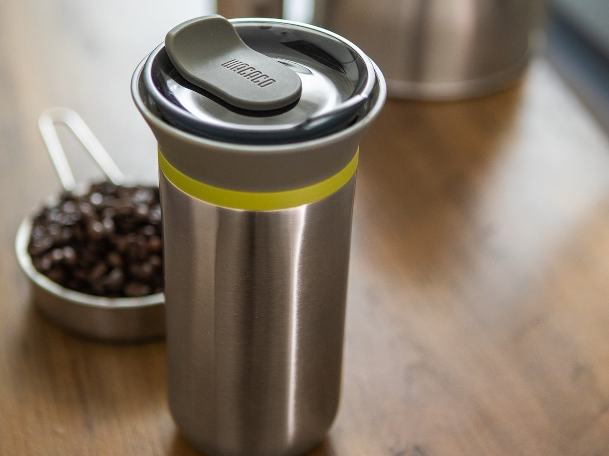 Wacaco Cuppamoka travel drip coffee maker is compact for on-the-go brewing