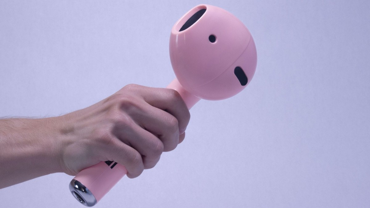 This gigantic earbud is a unique gadget for your music
