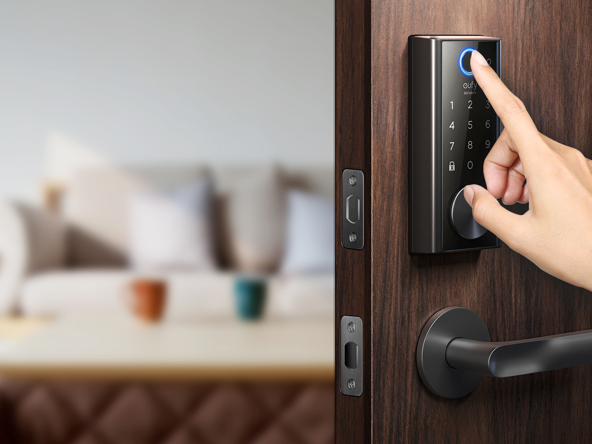 eufy Smart Lock Touch door fingerprint scanner automatically locks your door behind you