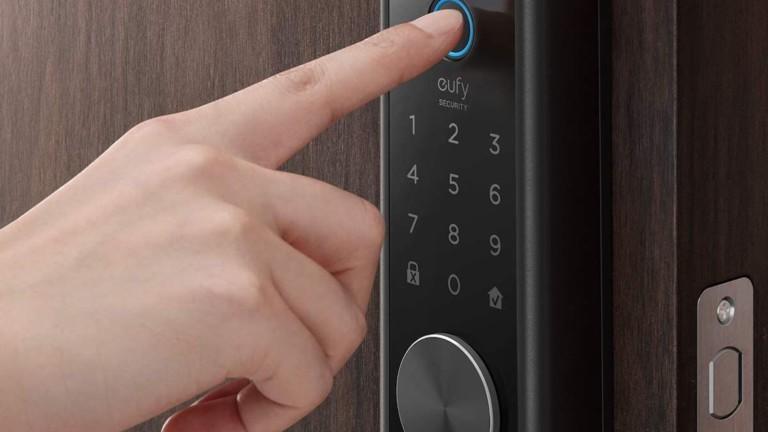eufy Smart Lock Touch door fingerprint scanner automatically locks your door behind you