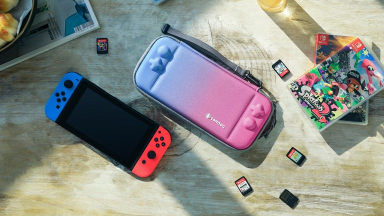 tomtoc Nintendo Switch Hard Shell Case has space for 10 game cartridges