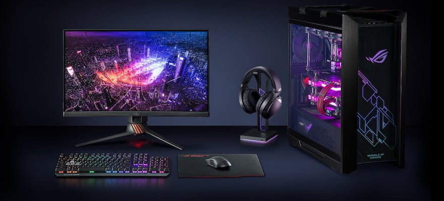 ASUS ROG Throne Qi gaming headphone stand