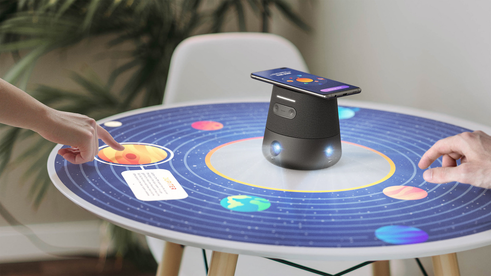 Alloy Orbit 360° Concept Projector creates an interactive touch interface for gaming