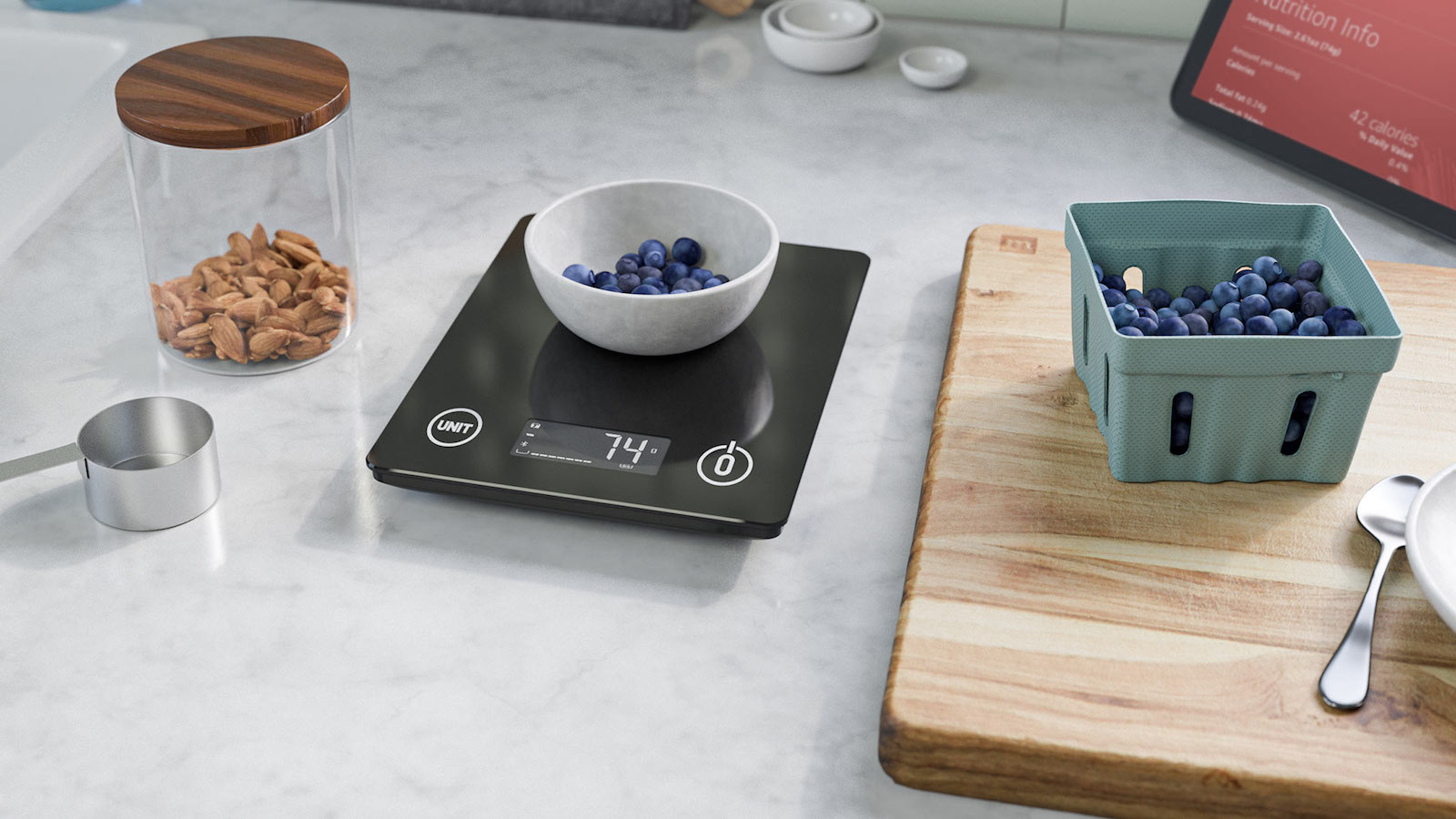 Amazon Smart Nutrition Scale shares the calories, carbs, or sugar content of food