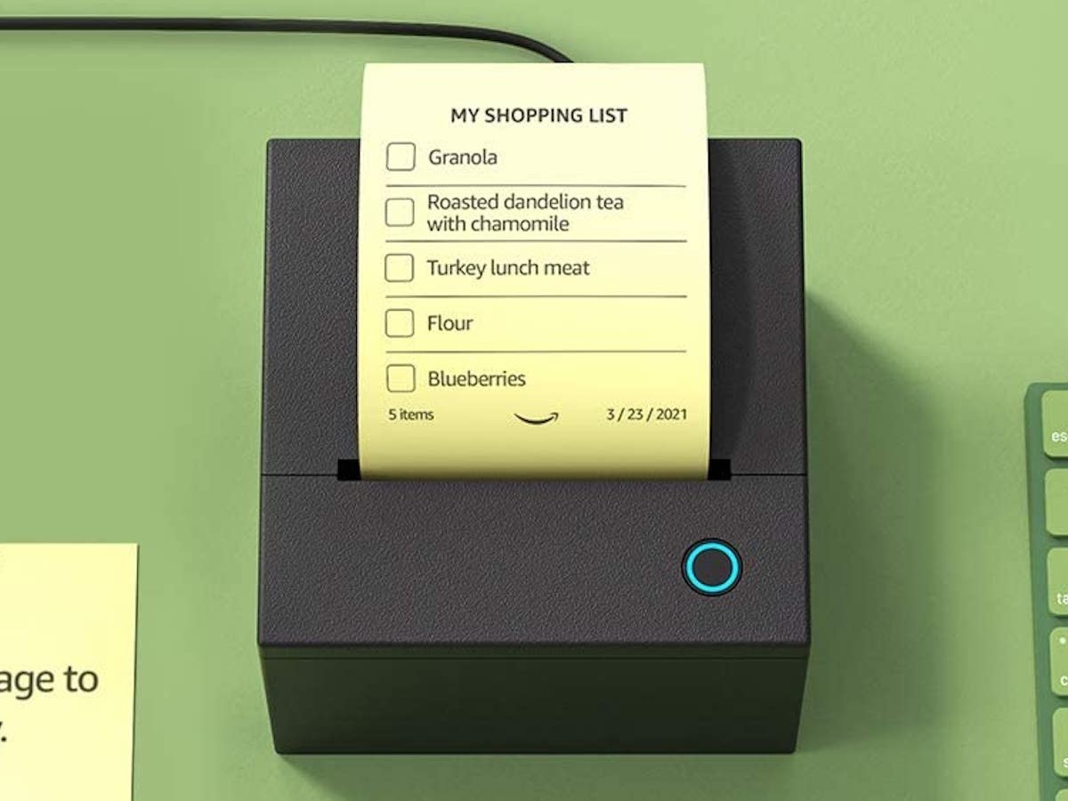 Amazon Smart Sticky Note Printer works with Alexa and your Echo device