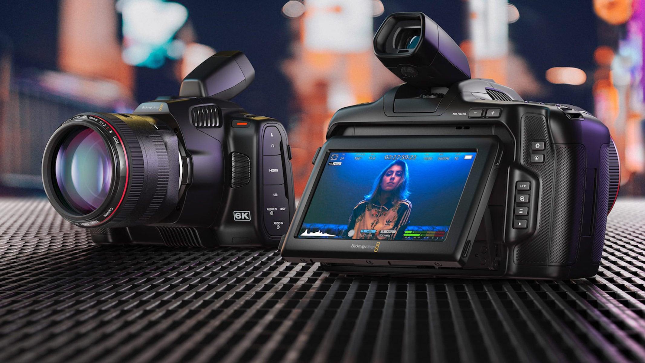 Blackmagic's new 'Pro' Pocket Cinema Camera 6K adds back the tilt-screen
