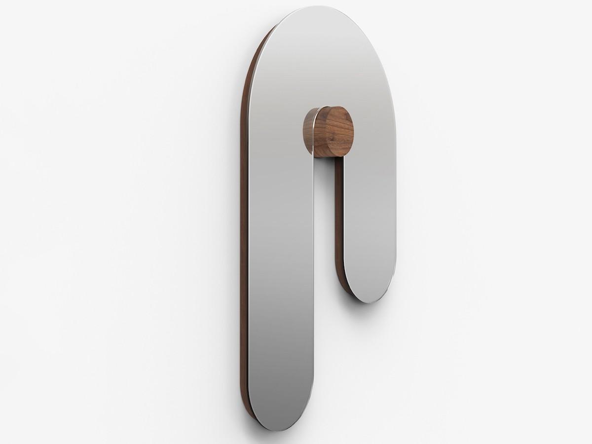 Bower Studios Melt Glass Mirror I features a unique, curved design