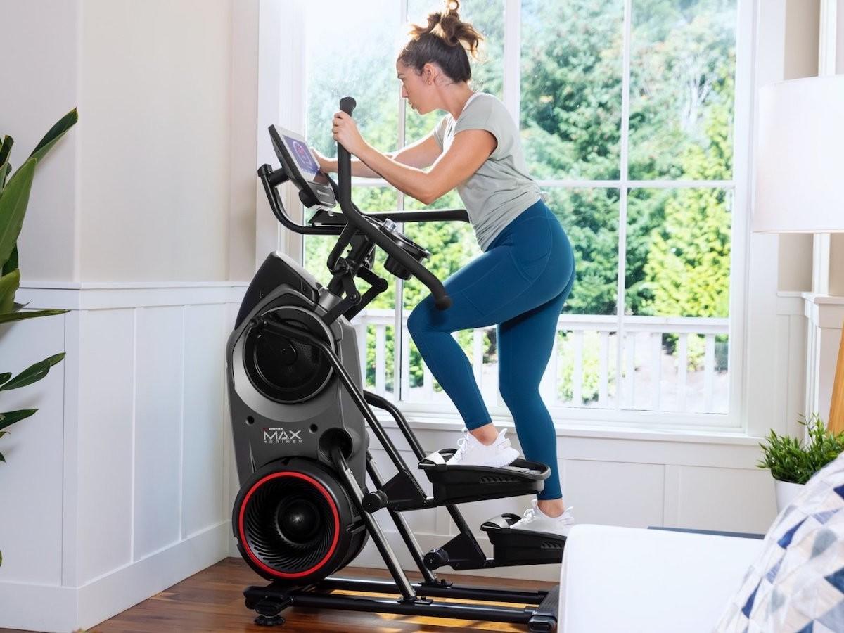 Bowflex Max Trainer M9 total-body cardio machine has a 10″ interactive console