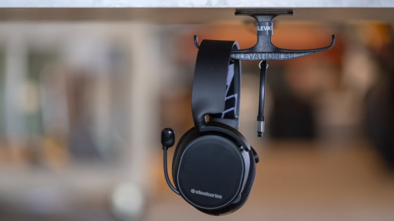ElevationLab AnchorPro headphones holder supports heavy headsets and keeps cords tidy