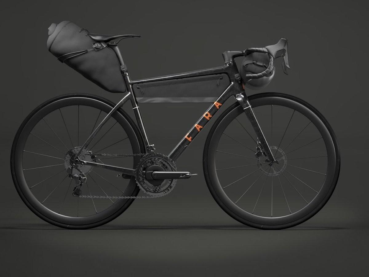 Fara Cycling F/AR trekker bicycle integrates bikepacking bags in its frame