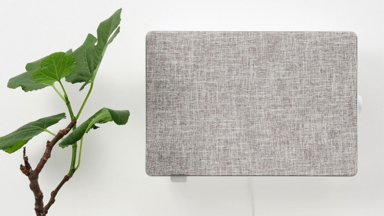 IKEA FÖRNUFTIG home air purifier can be easily hung on the wall or placed on the floor