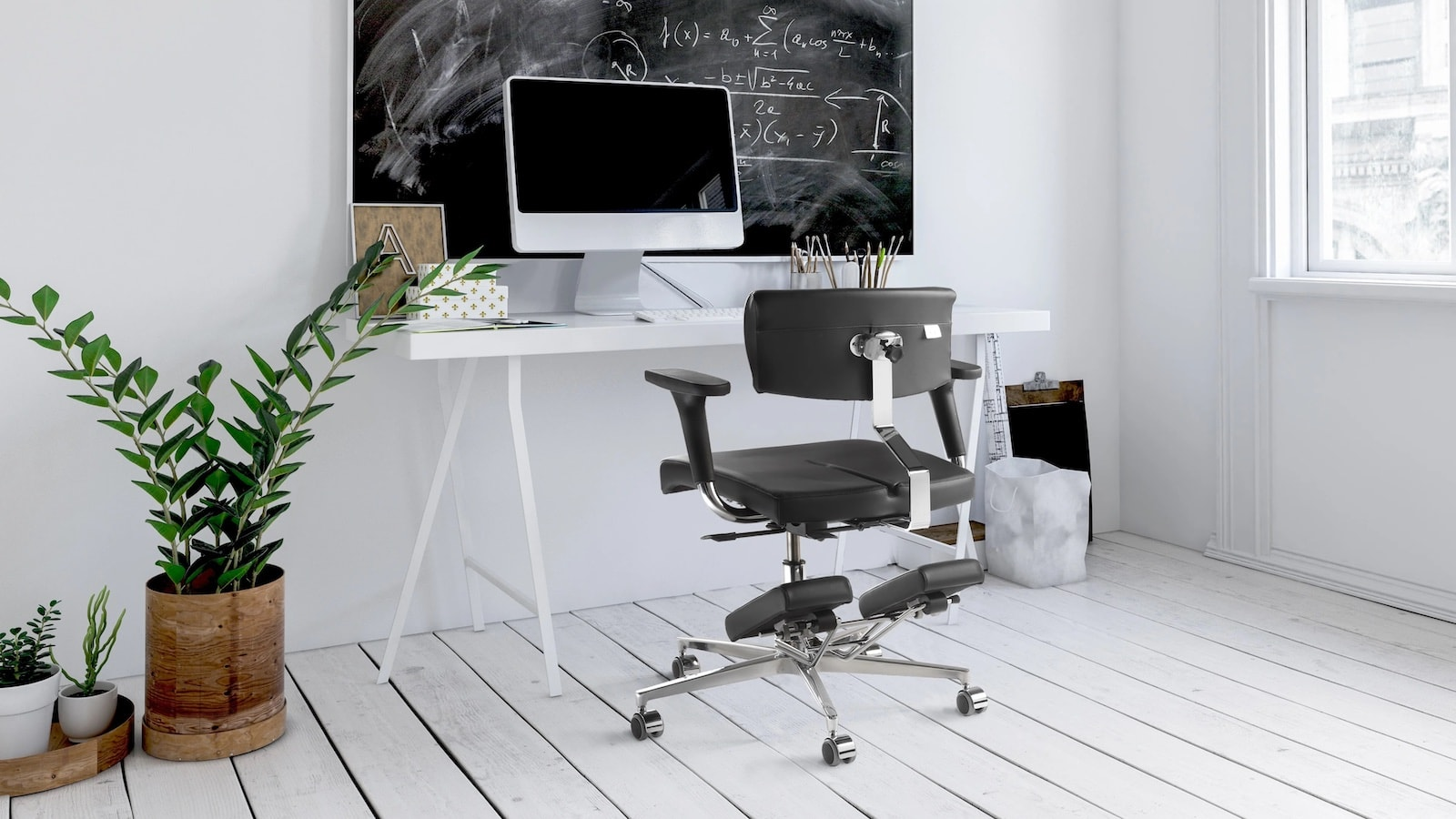 Komfort Chair ergonomic flexible seat series lets you freely adjust almost every angle