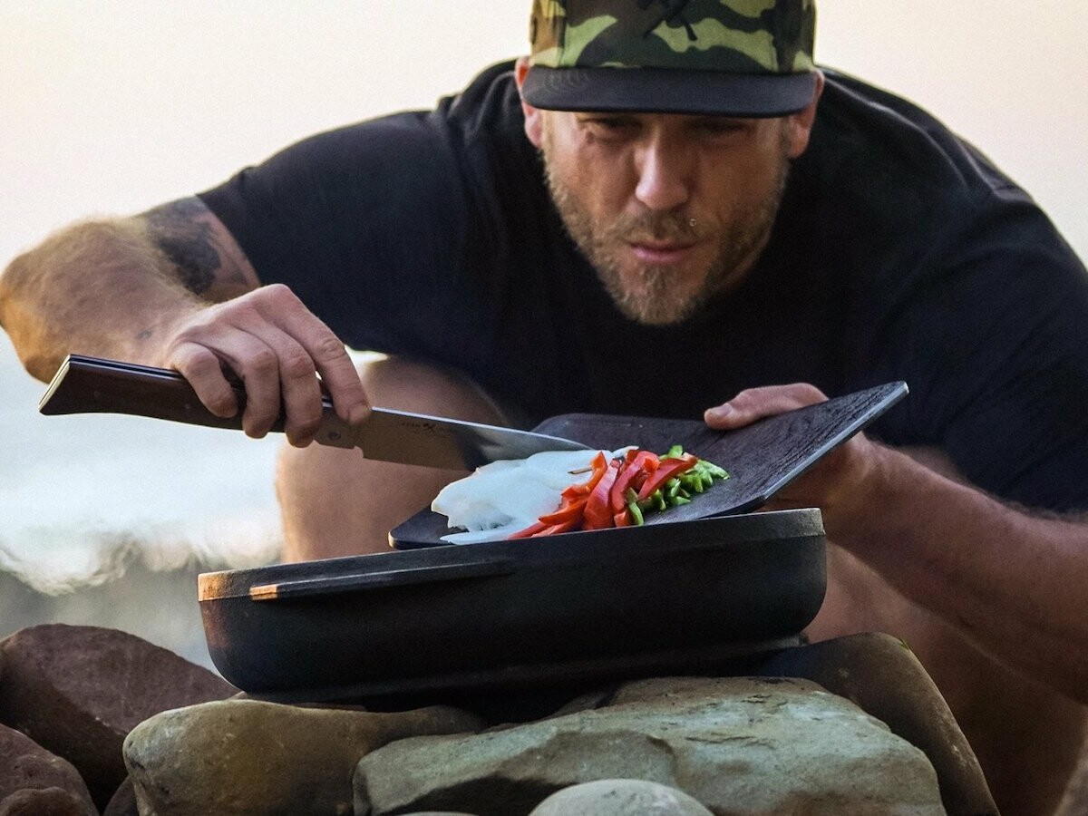 Messermeister Adventure Chef cooking collection saves space by using folding items