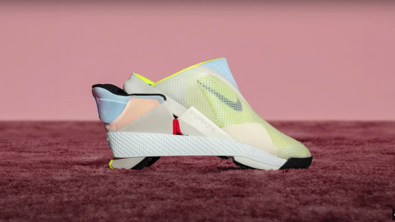 Nike Go FlyEase hands-free shoe has a clog-like shape for easy slip on and off
