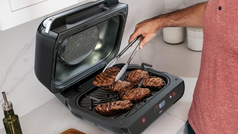 Ninja Foodi Smart XL Countertop Grill transforms into an air fryer