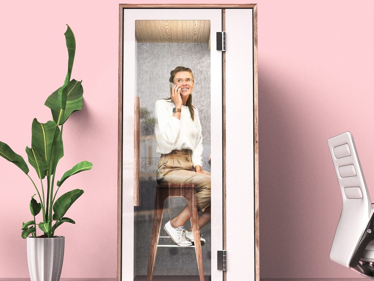 Nook soundproof booth provides a personal office space with no distractions