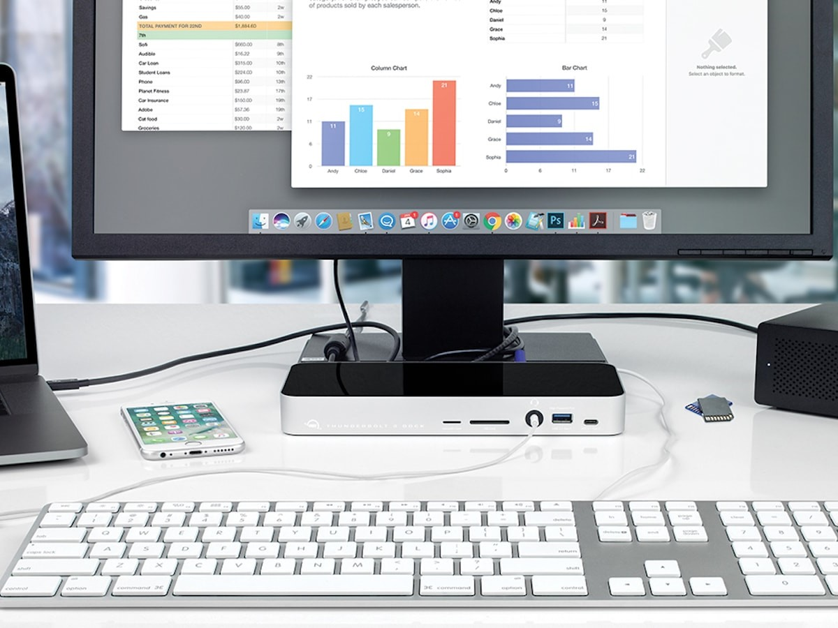 OWC Thunderbolt 3 Dock easily connects all of your devices