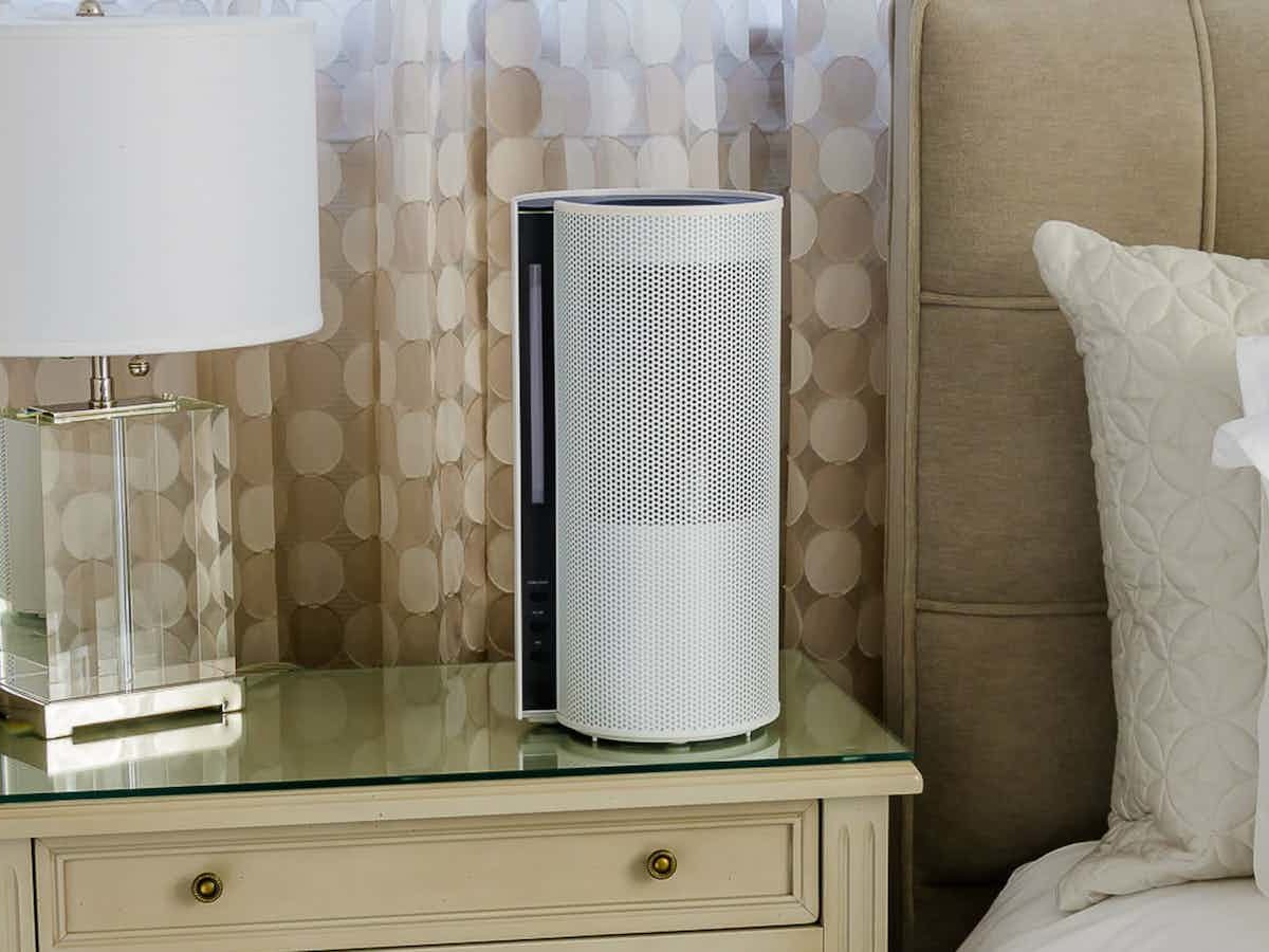 Objecto H5 Spiral Hybrid Humidifier provides a cool mist & works in rooms up to 650 sq ft