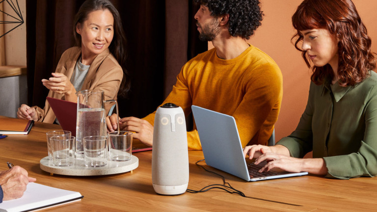 Owl Labs Meeting Owl Pro versatile conference device is a camera, microphone, & speaker